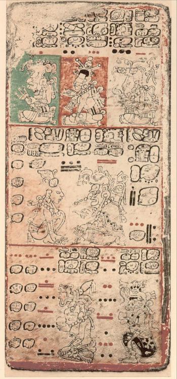 Códice de Dresde con números