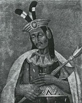 Sapa Inca con el Mascaipacha puesto