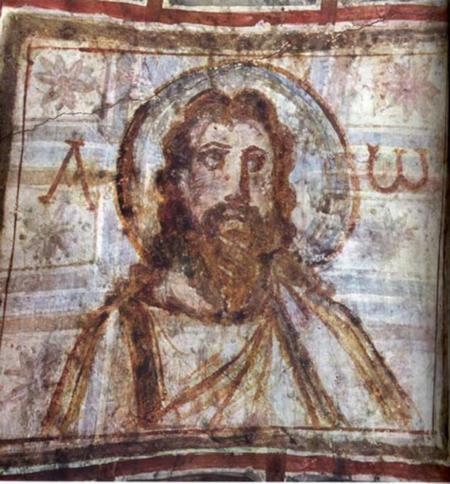 Representación de Jesucristo con Alfa y Omega